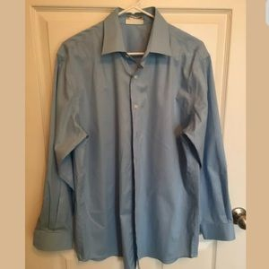 KENNETH COLE Blue 16-32/33 DRESS SHIRT  (u5)